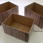 Make Easy Faux Wood Crates