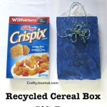 How to Make Gift Bags from Recycled Cereal Boxes