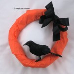 Raven Wreath from a Brown Paper Bag