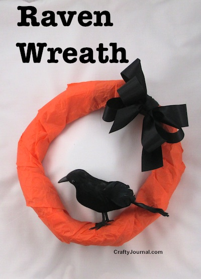 Raven Wreath from a Brown Paper Bag by Crafty Journal