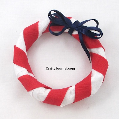 A Patriotic Star Wreath is an easy project for kids. By Crafty Journal