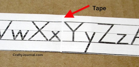 Paper School Alphabet Strip Ribbon and Bow by Crafty Journal