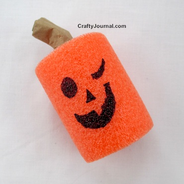 Pool Noodle Jack-O-Lantern by Crafty Journal