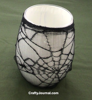 Spider Web Candle Jar by Crafty Journal