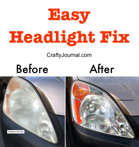 Easy Headlight Fix by Crafty Journal