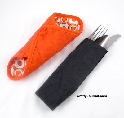 Halloween Silverware Holder by Crafty Journal