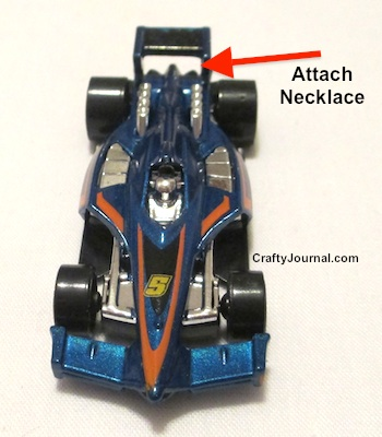 Quick and easy Hot Wheels Necklace by Crafty Journal