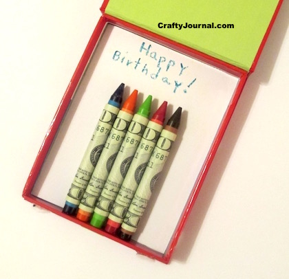 Dollar Bill Birthday Candles by Crafty Journal