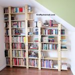 DIY Bookshelves Under the Stairs