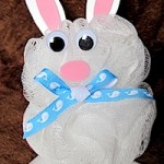 Bath Pouf Bunny