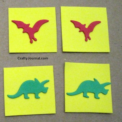 Dinosaur Matching Game by Crafty Journal