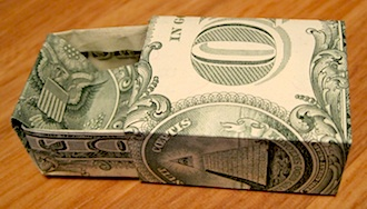 Origami Dollar Bill Gift Box