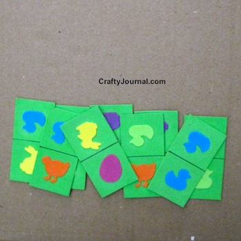 Toddler Dominoes from Craft Foam by Crafty Journal