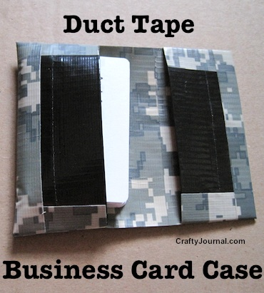 Duct Tape Business Card Case by Crafty Journal