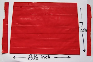 graphic regarding Duct Tape Wallet Instructions Printable known as Duct Tape Wallet