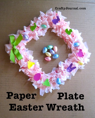 Paper Plate Easter Wreath by Crafty Journal