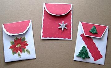 Envelope flap gift bags