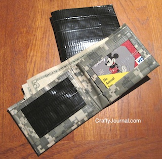Crafty Journal - Duct Tape Wallet