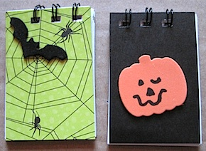 haunting halloween notepads