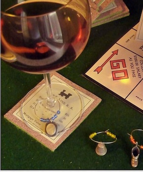 Monopoly Coasters and Wine Glass Charms