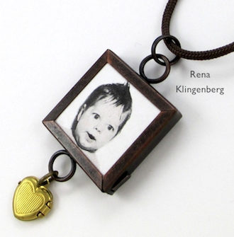 Baby Photo Necklace - Jewelry Making Journal