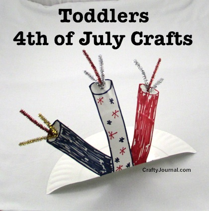 Toddlers 4th of July Crafts by Crafty Journal