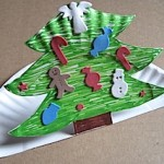 Paper Plate Pop Up Christmas Tree