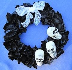 Crafty Journal - Skull Wreath