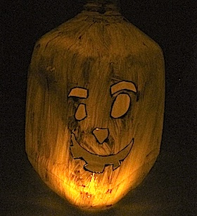 Crafty Journal - Milk Jug Jack-O-Lantern