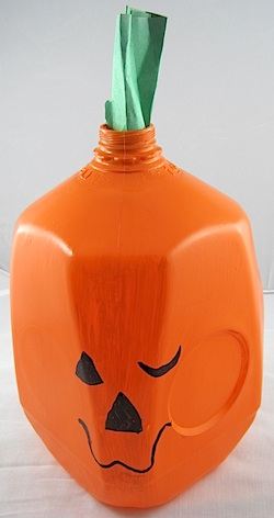 Crafty Journal - Milk Jug Jack O Lantern