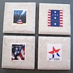 Patriotic Postage Stamp Magnets