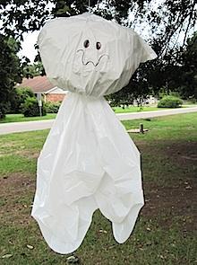 Crafty Journal - Trash Bag Ghost