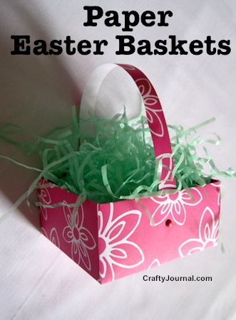 How To Make Easter Baskets out of cardstock and pins