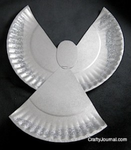Crafty Journal - Sparkly Paper Plate Angel