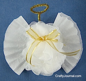 Crafty Journal - Bath Pouf Angel