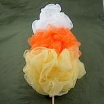 Candy Corn Bath Pouf