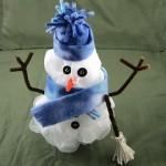 Frosty Snowman Bath Pouf