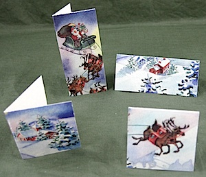 Crafty Journal - Folded Tags from Christmas Cards