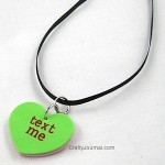 Conversation Heart Necklace