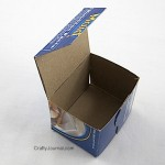 Make a Cube Shape Box from a Cracker Box