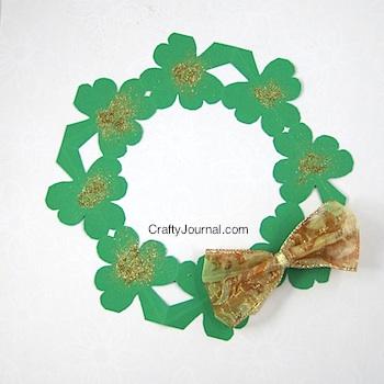 Shamrock Wreath - Crafty Journal