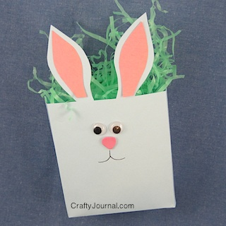 Crafty Journal - Bunny Bagalope from an Envelope.