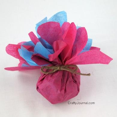 Crafty Journal - Tissue Paper Flower Favors