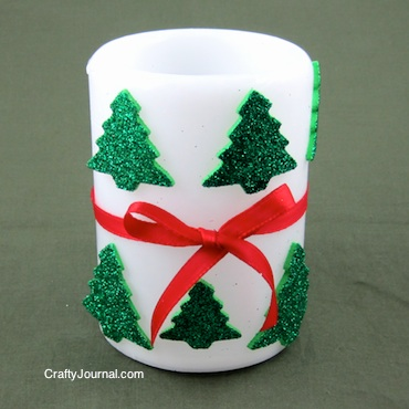 Crafty Journal - Christmas Tree Candle