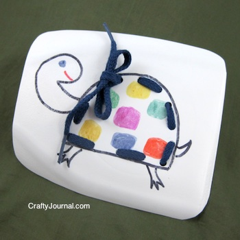 Milk Jug Sewing Card by Crafty Journal
