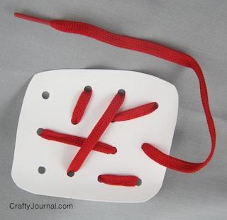 Crafty Journal - Milk Jug Sewing Card