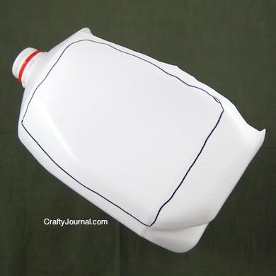 Crafty Journal - Milk Jug Dry Erase Board