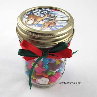 Crafty Journal - Christmas Card Gift Jar