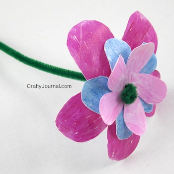 Milk Jug Flower - Crafty Journal