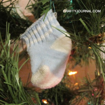Crafty Journal - Baby Sock Christmas Ornament